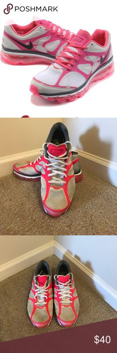 Women's Nike Air Max 2012 Air Max 2012 Women Shoes White Peach Red, Nike Air Mac trainer. Size 8.5.                                             All items ship from a smoke free home.  All items ship within 1 business day (excludes weekends and holidays).  Thanks for shopping with me! Nike Shoes Sneakers