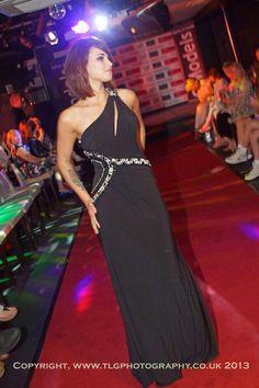 Linea Raffaeli on the catwalk.....elegant prom queen look....