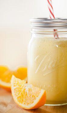 Orange Julicious (low-fat milk, oranges, yellow squash, frozen orange juice concentrate, honey & vanilla)