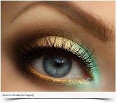 teal makeup-ideas