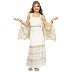 Girls Golden Goddess Costume | BuyCostumes.com