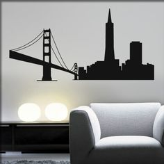 silhouette-wandtattoo-san-francisco