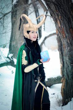 "Original cosplay based on ""Avengers"" movie. Costume design by fem!Thor - Izzy fem!Loki - Photo and edit by"