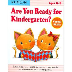 $7.49 - This book will help your child become familiar with the alphabet and reading and writing simple words in preparation for kindergarten. • The step-by-step exercises and fun activities will help your child enjoy preparing for his or her first official year of school. A little info on Kumon Workbooks; They are based on the Kumon Method, an educational philosophy that aims at unlocking the full learning potential of each individual child. The Kumon Method introduces learni...