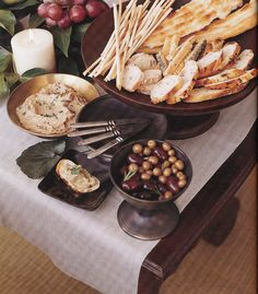 Breads, Olives, Eggplant Caviar-InStyle Parties-Camille Styles Events