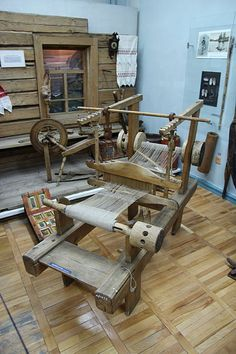 Another interesting antique Russian loom. I think that both the front and back…