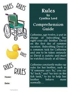 Rules by Cynthia Lord Power Pack: 22 Journal Prompts and 11 ...
