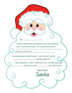 Letters to santa templates printables free printable letter from letters to santa templates printables free printable letter from santa santa letter pinterest printable letters santa and free printable spiritdancerdesigns Images