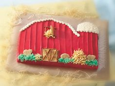 Little Red Barn Cake - adorable AND doable!