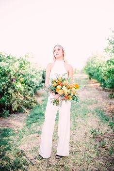 Same Sex Wedding Inspiration with Bright Citrus Decor – Alycia Moore Photography 17 Add color and a zesty burst of life to your wedding with fruity decors! #bridalmusings #bmloves #decor #citrus #weddingdecor #orange #ido #weddinginspo #weddinginspiratio #coolbride