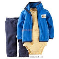 Baby Boy Clothes Carter's Baby Boys 3-Piece Short-Sleeve Safari Bodysuit, Ranger Scout, 3 Months