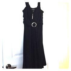 Black WHBM dress   brand new with tags, never worn.  Black dress with silver embellishment. White House Black Market Dresses Midi