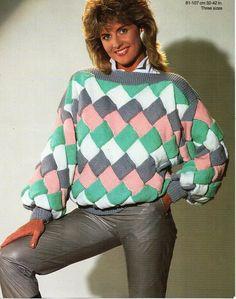 Jumper Knitting Pattern, Jumper Patterns, Vintage Knitting, Vintage Sewing, Modern Outfits, Vintage Ladies, Sweaters, English, Note