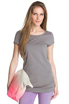Esprit paita puuvillaa/Lycraa graniitinharmaa pitkä malli 15,95 e - grey shirt