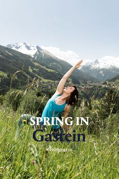 As spring arrives in Gastein, the entire valley is filled with blossoms and vibrant colors. Springtime is also accompanied in Gastein Valley by an array of international top events. Take part in the always-popular Yoga Spring or quick-step into spring with the help of DANCE:FEST Gastein. Spring is here! Do you feel it? And when, in Gastein, you see the mountains in flames, you know that summer can't be far away either. Spring Is Here, Spring Time, Yoga, Do You Feel, Far Away, Blossoms, Vibrant Colors, Events, Dance