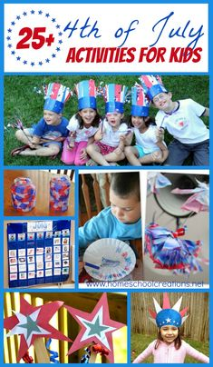 of July activities for kids - 25 printables, crafts, and activities to celebrate together! Patriotic Crafts, July Crafts, Summer Crafts, Holiday Crafts, Holiday Fun, Summer Activities For Kids, Holiday Activities, Craft Activities, Crafts For Kids