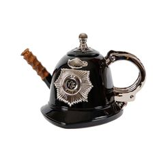 The Teapottery's Police Helmet Teapot in shape of iconic British bobby's police…