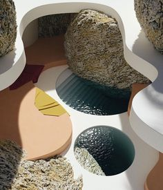 incredible swimming pool amongst giant rocks and with round shapes to go along. dreamy summer scenes by Organic Architecture, Interior Architecture, Pavilion Architecture, Residential Architecture, Contemporary Architecture, Decoration Inspiration, Design Inspiration, Decor Ideas, Exterior Design