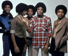 The Jacksons photographed by Govert de Roos in Amsterdam, February 1979.