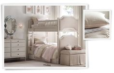 bunk beds for a princess | Restoration Hardware Baby & Child