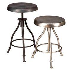 iron swivel stool cg sparks $79, nickel $110