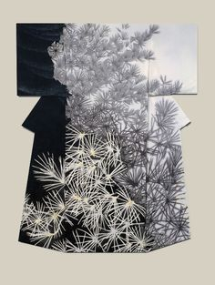 "thekimonogallery: ""Shoin"", a kimono created by artist Yuri Keiko. Jury Prize winner at the (Institute ) Japan Dyers Association Source by ibergere Japanese Textiles, Japanese Patterns, Japanese Fabric, Japanese Design, Japanese Art, Kimono Noir, Mode Kimono, Traditional Kimono, Traditional Outfits"