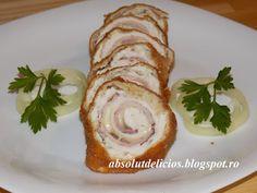 Absolut Delicios - Retete culinare: CORDON BLEU New Recipes, Cooking Recipes, Cordon Bleu, Prosciutto, Meat, Chicken, Food, Yummy Recipes, Fish
