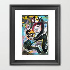 """The Black Boy who killed Paul Bunyan"" - Framed Art Print by Zabu Stewart - $37.00"