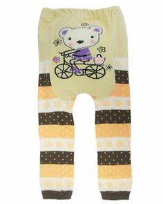 """Dotty Fish - Jambières en laine """" Cream Flower Ted"""" pour bébés et jeunes enfants Dotty Fish."""