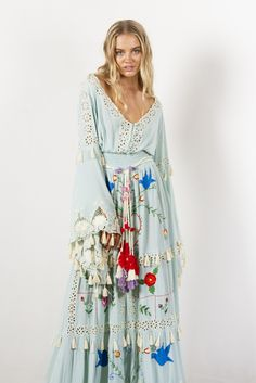 cce90f2f7c99 'little bear' - hand embroidered maxi dress - pastel jade