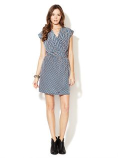 Faux Wrap Printed Dress by Best Society on Gilt.com
