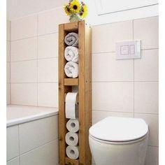 22 DIY Toilet Holder Ideas Whıch Enhance The Look Of Your Toilet 22 Diy Toilet Holder Ideas Wh?ch Enhance The Look Of Your Toilet! The post 22 DIY Toilet Holder Ideas Whıch Enhance The Look Of Your Toilet appeared first on Badezimmer ideen. Bathroom Storage, Small Bathroom, Bathroom Towels, Bathroom Ideas, Funny Bathroom, Neutral Bathroom, Vanity Bathroom, Bath Towels, Master Bathroom