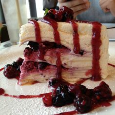 Mixed berries crepe cake in Greyhound, Central, HK