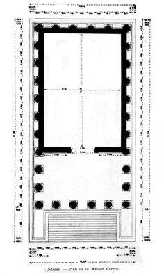 Maison Carree (plan) Roman, ca. 10 CE Nimes, France