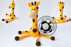 Agnieszka Mężyk, Szydełkowe Stwory, żyrafa www.polandhandmade.pl #polandhandmade #crochet #amigurumi
