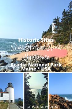 Acadia National Park is home to 3 lighthouses, but only 1 is accessible by car: Bass Harbor Head Lighthouse. It is nestled on the tip of Southwest Harbor along the rocky beach. It's such a beautiful spot to take in the ocean! #acadianationalpark #acadia #hiking #maine Bass Harbor Lighthouse, Lighthouse Trails, Acadia National Park, National Parks, Southwest Harbor Maine, Maine Lighthouses, Historical Sites, Amazing Nature, Places To Go