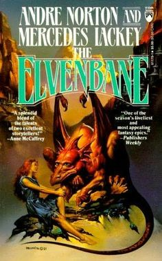 Elvenbane (1991)  (The first book in the Halfblood Chronicles series)  A novel by Mercedes Lackey and Andre Norton