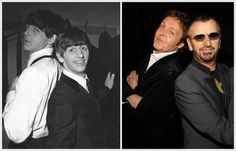 The Beatles - Paul McCartney and Ringo Starr - yesterday and today