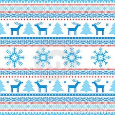 Christmas Background Fair Isle Knitted Motifs Stock Photos - Image ...
