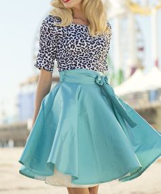 Blue Racer Swing Skirt
