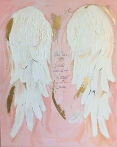 Graduation gift for her Angel Wings Art painting Spiritual painting The Leap acrylic painting Angel Wings and Gold Leaf Angel Wings Painting, Angel Wings Wall Art, Angel Artwork, Angel Paintings, Diy Art Projects Canvas, Grace Art, Spiritual Paintings, The Artist, Nursery Paintings