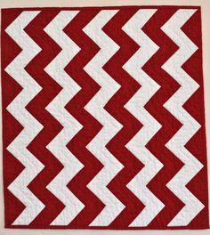 simple chevron quilt