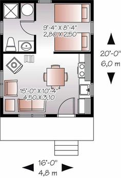 16x20 shed possible interior floor plan