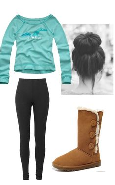 Lazy day outfit for winter, love the hair wish I could do that!