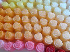 Sabonete botão de rosa para lavabo