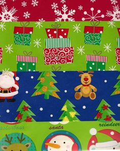 Christmas Gift Wrap snowflakes presents Flat Wrapping Paper heavy duty assorted designs