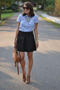 stripes + a flared skirt