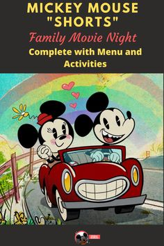 """Looking for an activity to enjoy with your whole family? Check out our Mickey Mouse Shorts """"Movie"""" Night. Complete with Mickey Mouse themed snacks and activities you can do with things you probably already have in your house. Disney Home, Disney Diy, Disney Magic, Walt Disney, Mickey Mouse Shorts, Mickey Mouse Cartoon, Family Movie Night, Family Movies, Pixar Movies"""
