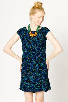 Blur Print Dress   a-thread