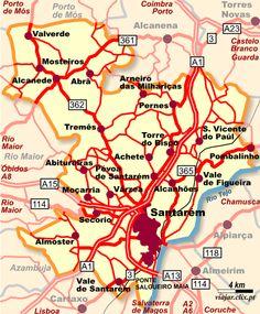 Mapa: Santarém - Clique para ampliar - (c) Filipe Moreira / Semantix (Todos os direitos reservados)